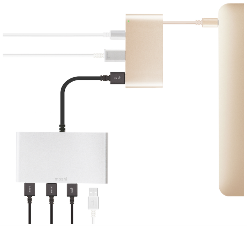 Moshi USB-C Multiport Adapter Silver