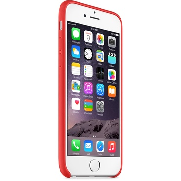 Apple iPhone 6 Leather Case - Bright Red