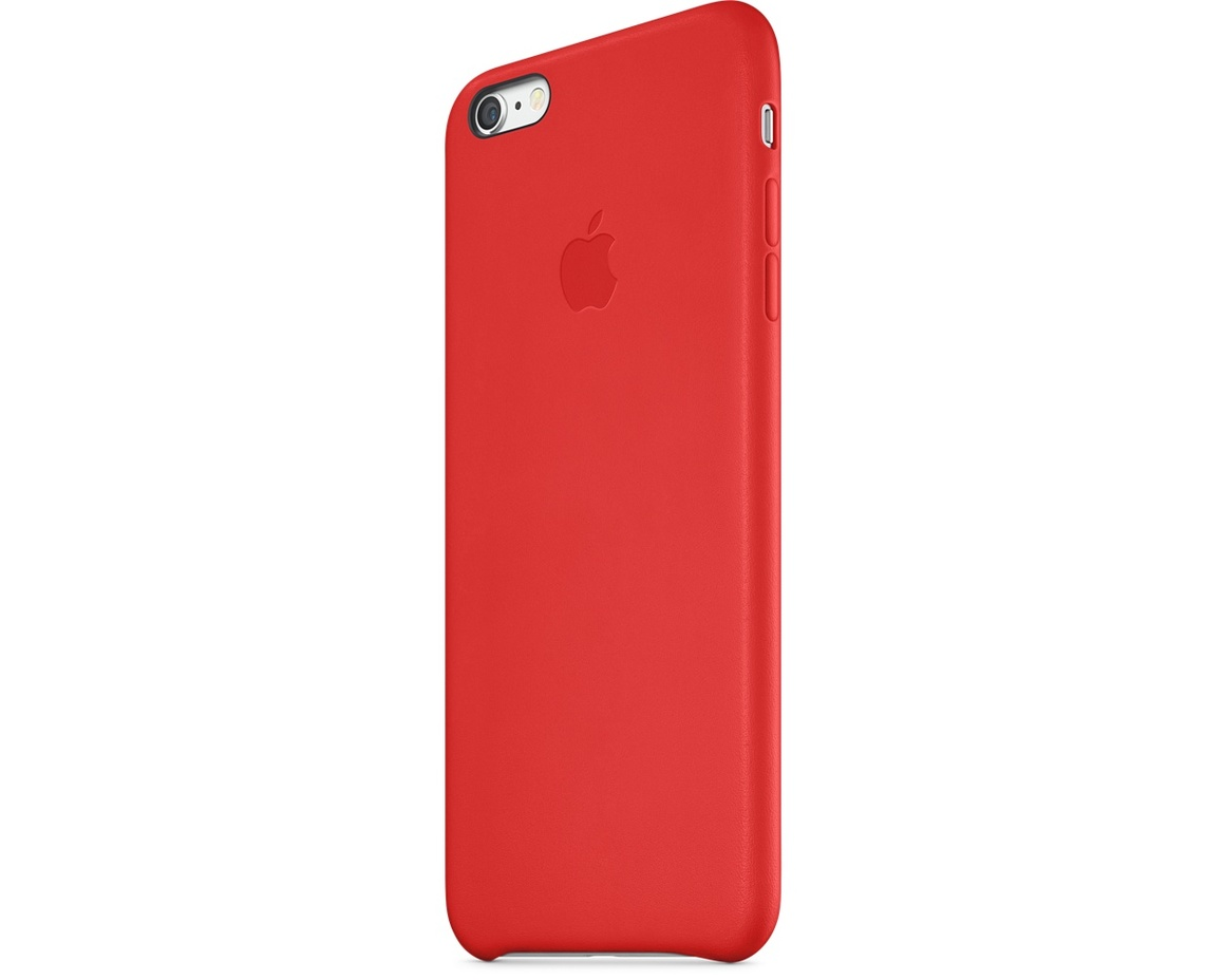 Apple iPhone 6 Plus Leather Case - Bright Red