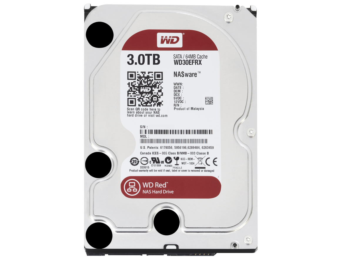 Western Digital Red 3,5 3TB 64mb cache