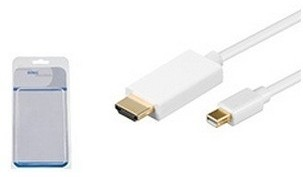 MicroConnect Mini Displayport-HDMI M-M 1.8m - vit