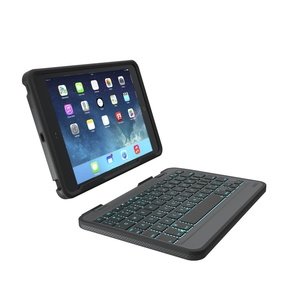 Zagg Rugged Folio m. Backlit Keyboard för iPad mini - Svart
