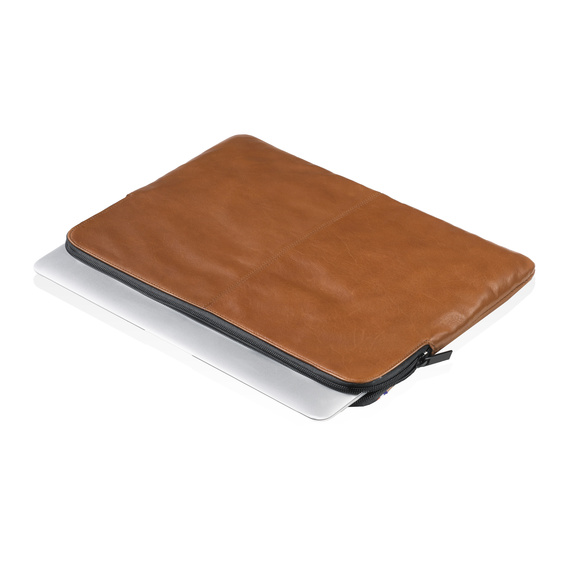 "Decoded Leather Slim Sleeve 13"" Brun"