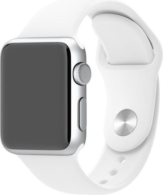 Apple Watch Armband Sportband 42mm - Vitt/Silver