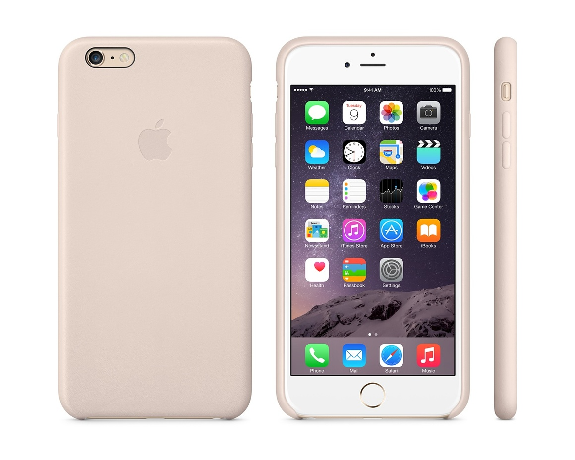 Apple iPhone 6 Plus Leather Case - Soft Pink