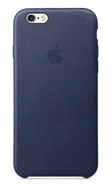 Apple iPhone 6s Leather Case - Midnattsblå