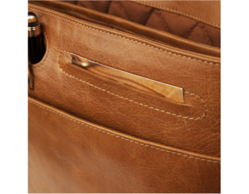 dbramante1928 Signature  Marselisborg Leather Messenger - Golden Tan