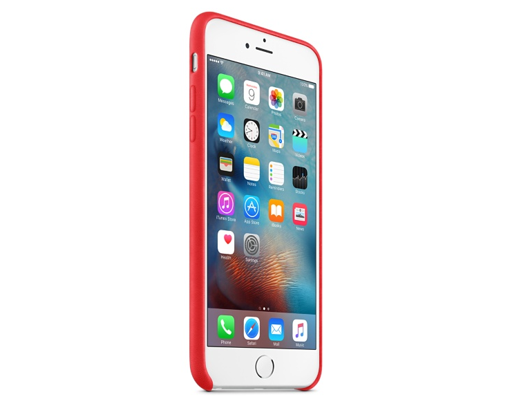Apple iPhone 6s Plus Leather Case - (PRODUCT)RED