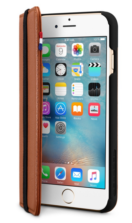 Decoded - Leather Wallet Case för iPhone 6 - Brun