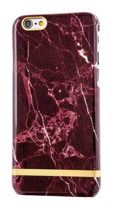 R&F för iPhone 6/6s - Red Marble Glossy
