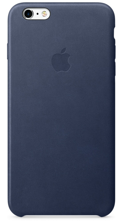 Apple iPhone 6s Plus Leather Case - Midnattsblå