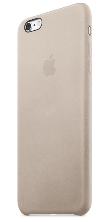 Apple iPhone 6s Plus Leather Case - Rosengrå