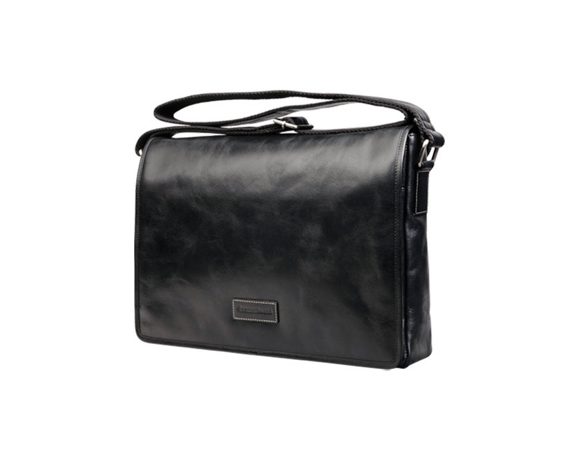 dbramante1928 Signature Marselisborg Leather Messenger - Black