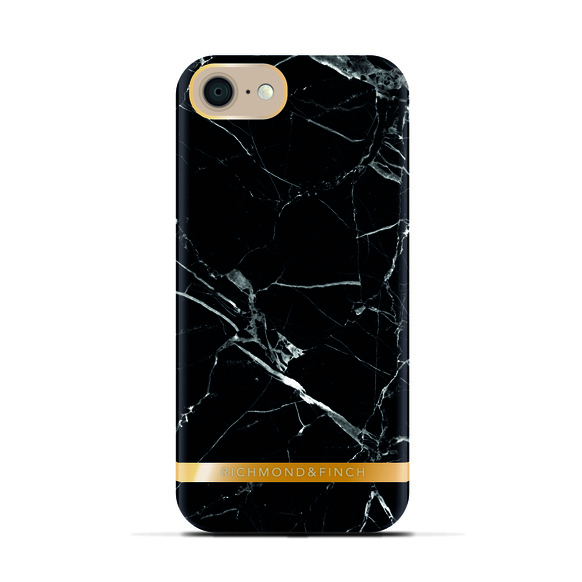 R&F för iPhone 7 - Black Marble Glossy
