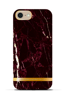 R&F för iPhone 7 -  Red Marble Glossy