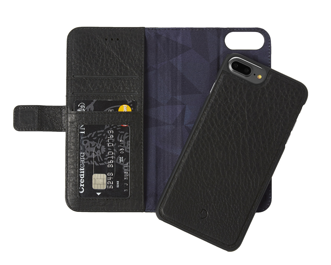 Decoded - 2 in 1 Leather Wallet Case Magnet för iPhone 7 Plus - Svart