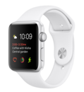 Apple Watch Series 1 38MM Aluminiumboett i silver, vitt sportband