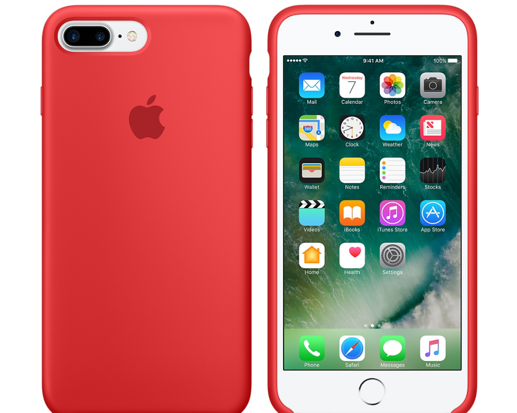 Apple iPhone 7 Plus Silikonskal - PRODUCT(RED)