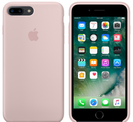 iPhone 7 Plus Silicone Case - Pink Sand