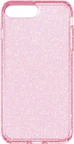 Speck Presidio Clear + Glitter for iPhone 7 Plus - Rose Pink