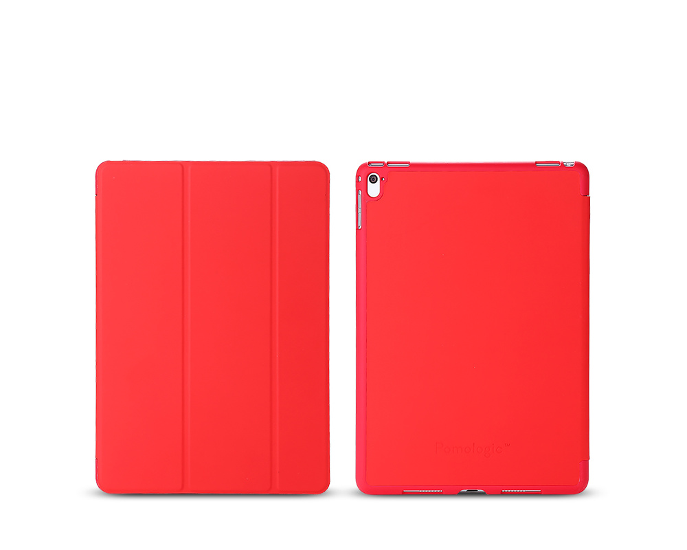 "Pomologic - Book Case för iPad Air 2 / iPad Pro 9,7"" - Röd"