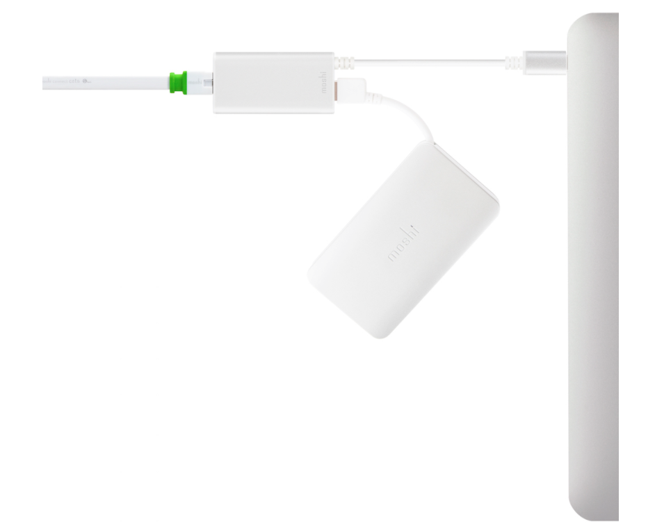 Moshi - USB-C to Gigabit Ethernet Adapter - Silver