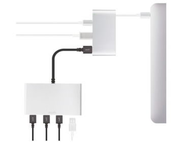 Moshi - USB-C Multiport Adapter - Silver