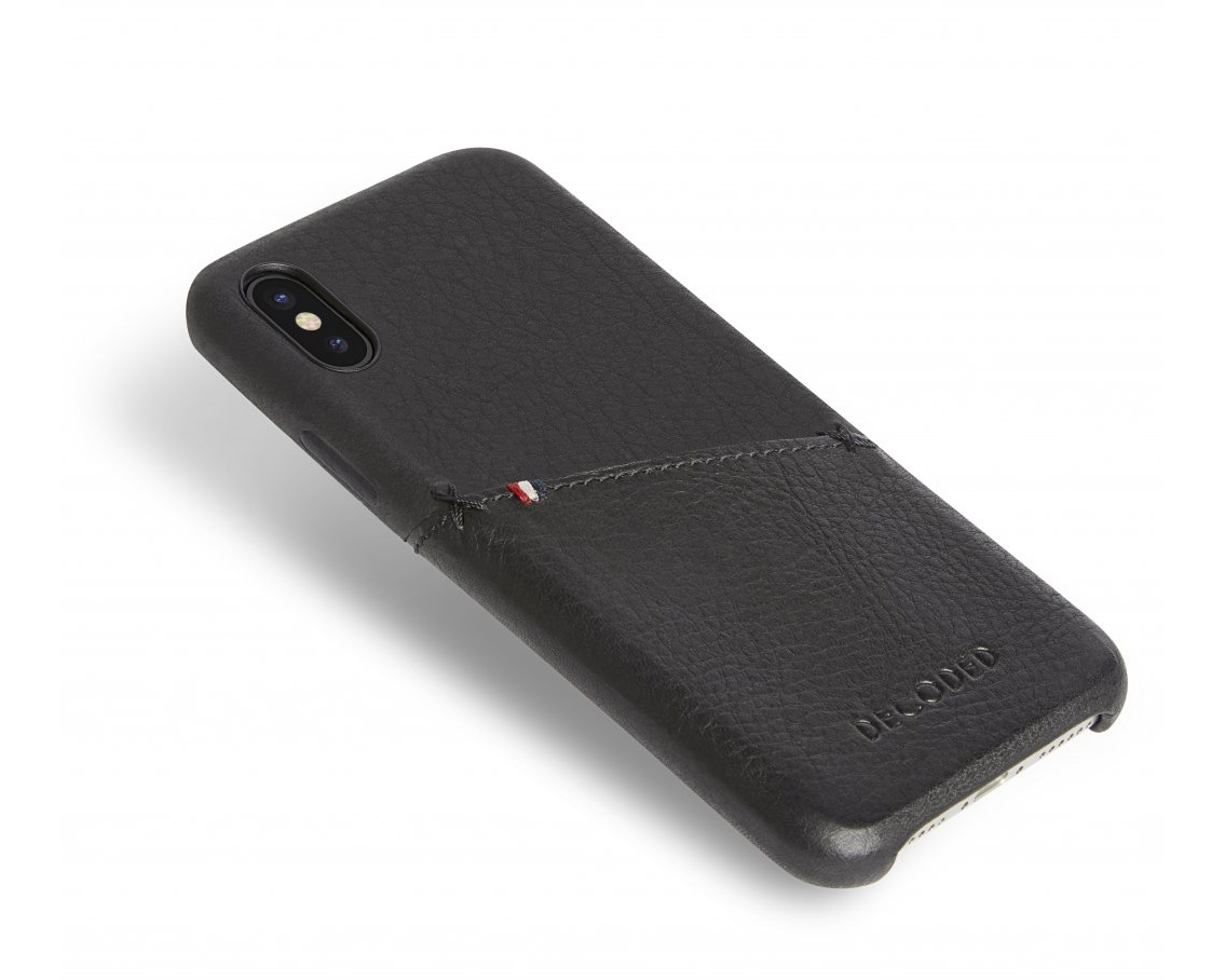 promo code 52e4d 3bc75 Decoded- Leather Back Cover för iPhone X Black