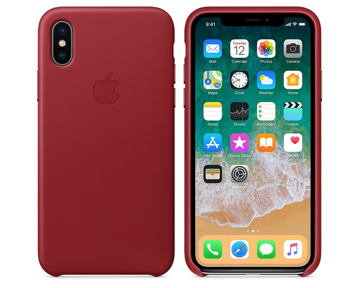 iPhone X Leather Case - (PRODUCT)RED