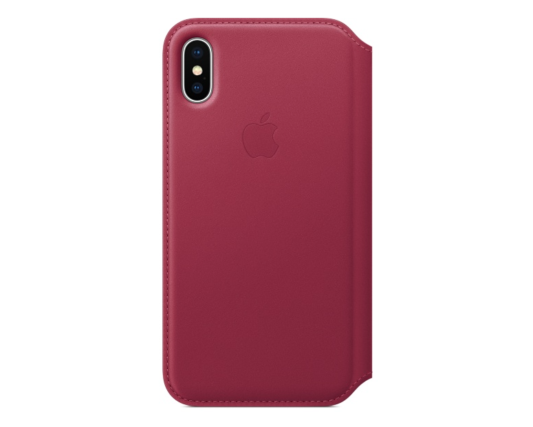 Apple iPhone X Läderfodral - Smultron