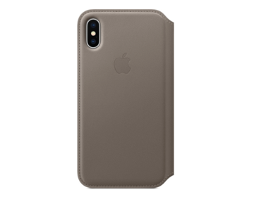 Apple iPhone X Läderfodral - Mullvadsgrå