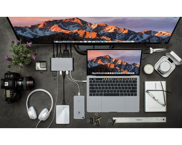 Hyper - HyperDrive Ultimate USB-C Hub (Space Gray)