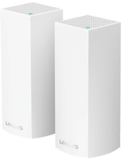Linksys Velop WHW0302 MESH - Trådlös router - 802.11ac - Trippelband (paket om 2)