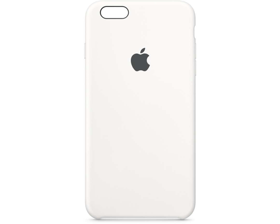 Apple iPhone 6s Plus Silicone Case - Vit