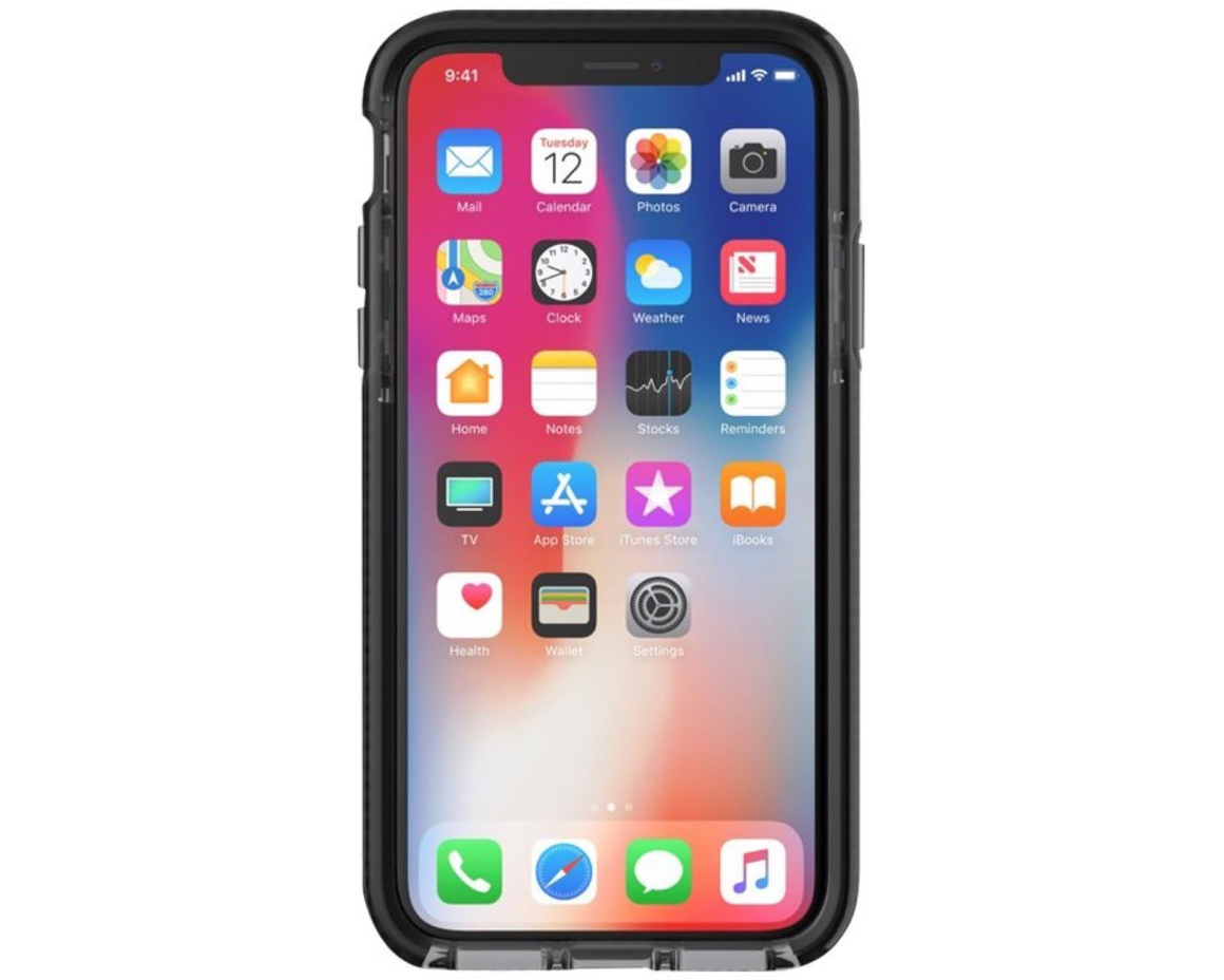 Tech21 Evo Check iPhone X Rökfärgad/Svart