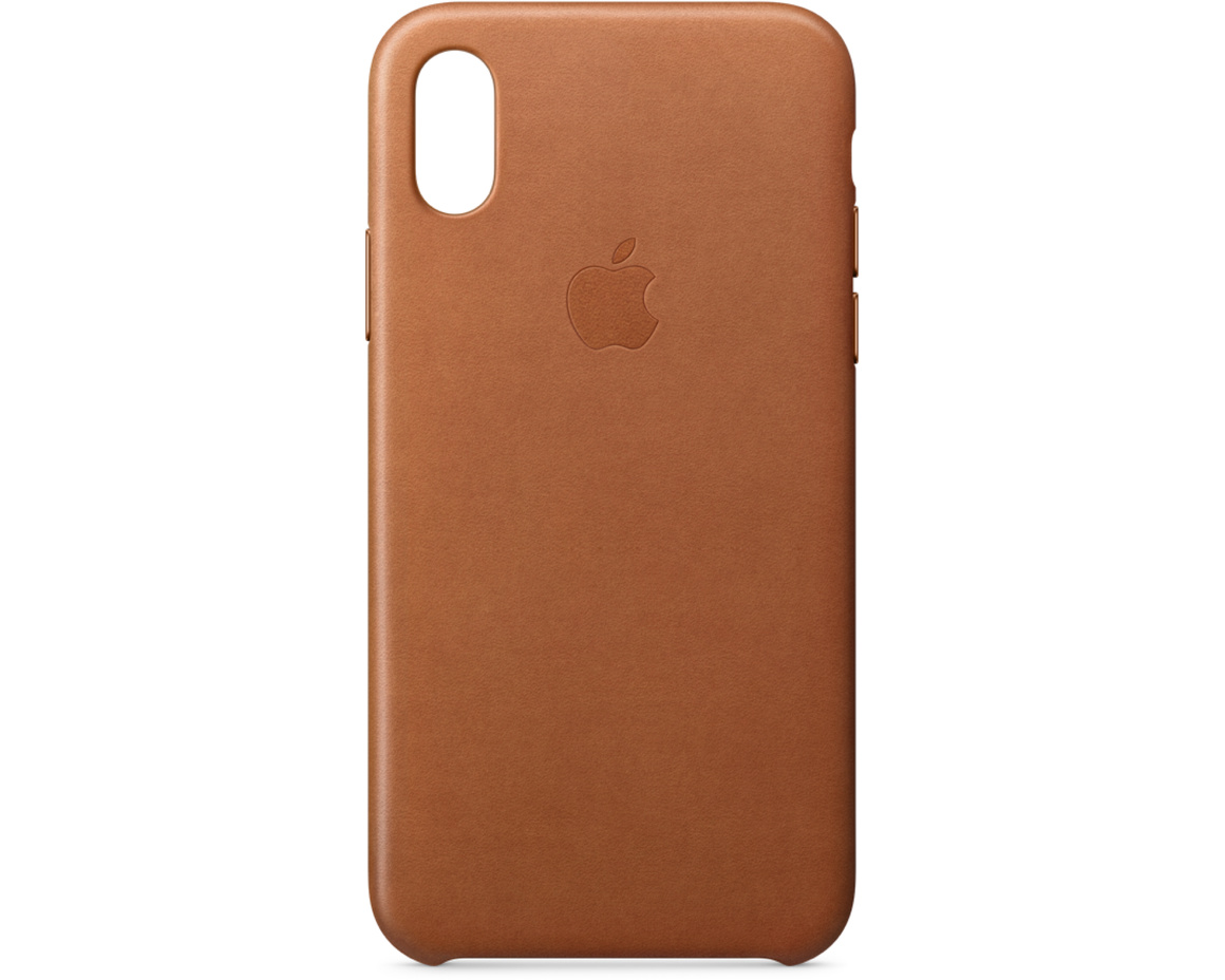 iPhone XS Max Leather Case - Sadelbrun