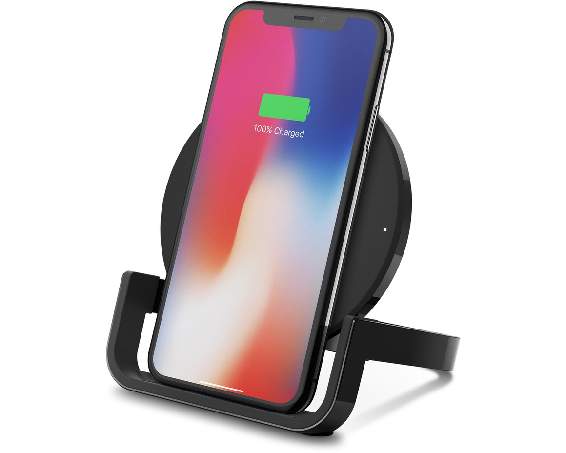 Belkin Boost Up Wireless Charging Stand för iPhone 8/8 Plus/X/XS Max - Svart