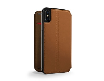 Twelve South SurfacePad för iPhone XS Max Rakbladstunt Nappaläder - Cognac