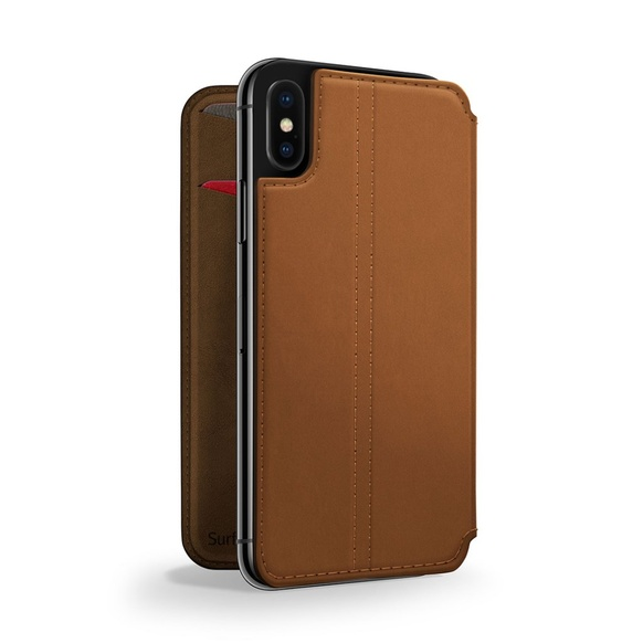 Twelve South SurfacePad för iPhone X Rakbladstunt Nappaläder