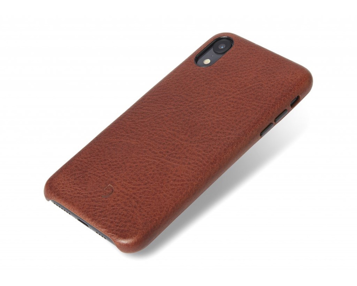 Decoded - Leather Back Cover för iPhone XR Brun