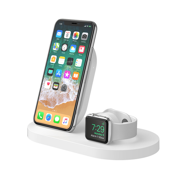 Belkin 7.5W iPhone Wireless Dock + Apple Watch + USB-A