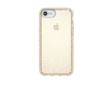 Speck Presidio Clear + Glitter - Clear With Gold Glitter/Clear för iPhone 8