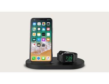 Belkin 7.5W iPhone Wireless Dock + Apple Watch + USB-A - Svart