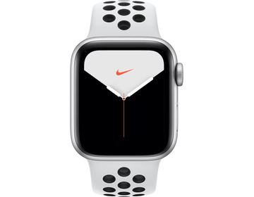 Apple Watch Nike Series 5 GPS + Cellular 40mm Aluminiumboett i Silver med Pure Platinum/Black Nike Sport Band - S/M & M/L