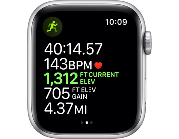 Apple Watch Nike Series 5 GPS 44mm Aluminiumboett i Silver med Pure Platinum/Black Nike Sport Band - S/M & M/L