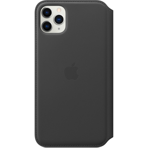 Apple iPhone 11 Pro Max Läderfodral - Svart