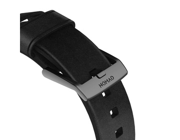 Nomad - Modern Strap - 44mm/42mm - Black Hardware - Black Leather