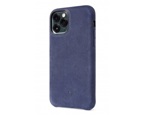 Decoded Recycled Leather Backcover för iPhone 11 Pro - Blue