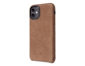 Decoded Recycled Leather Backcover för iPhone 11 - Tan