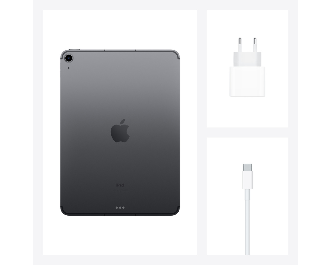 iPad Air 2020 WiFi + Cellular 64GB - Rymdgrå